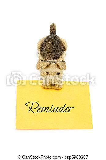 Dog with message reminder - csp5988307