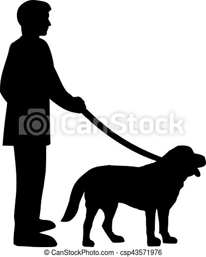 Dog And Owner Drawing