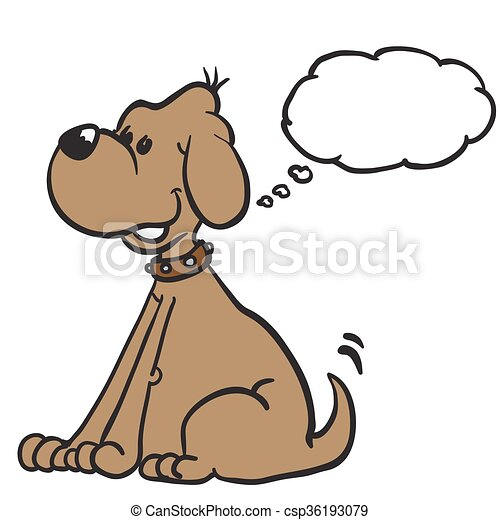 dog with thought bubble - csp36193079
