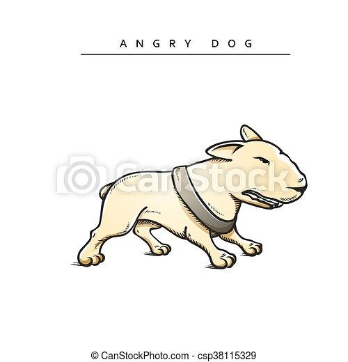 Dogs characters pitbull. Funny animals cartoon. - csp38115329