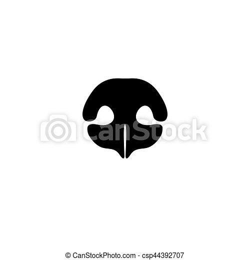 Dog's nose icon. Logo element for pet shop, vet - csp44392707