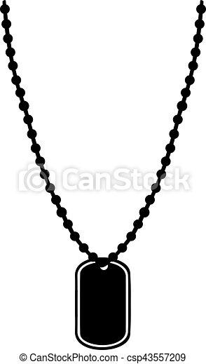Dogtag chain - csp43557209