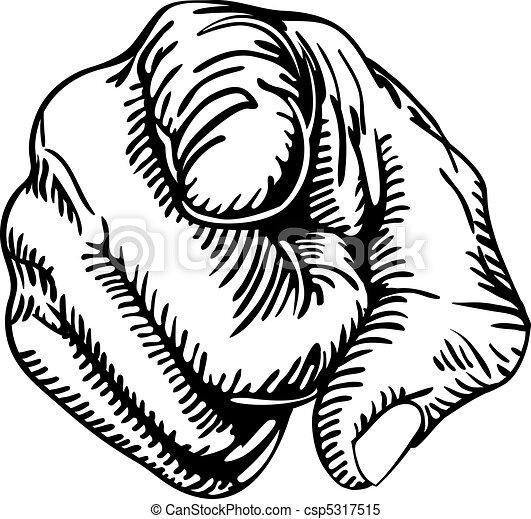 doigt indique - csp5317515