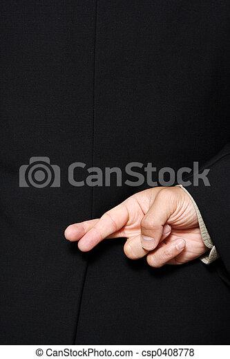 doigts traversés - csp0408778