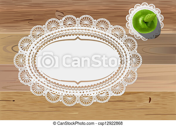 doily mats and apple - csp12922868