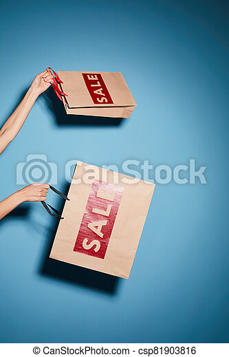 Doing shopping on sale - csp81903816
