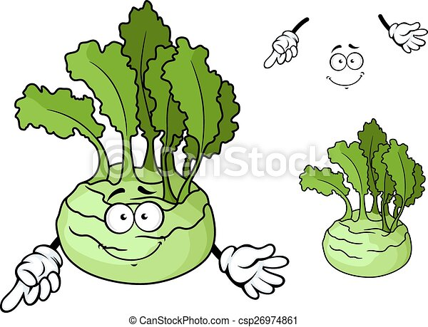 dojrzały, kalarepa, litera, roślina, uśmiechanie się, rysunek - csp26974861