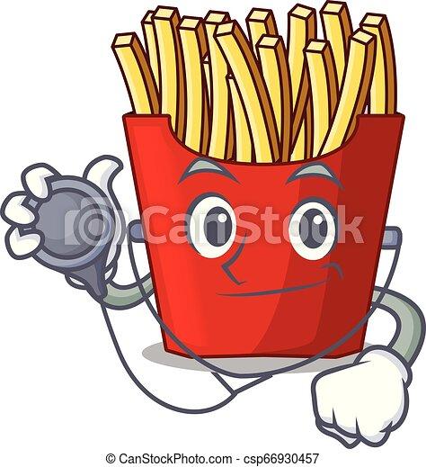 doktor, smaży, francuski, drewno, nad, stół, rysunek - csp66930457