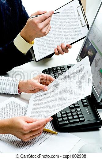 dokumente, besprechen - csp1002338