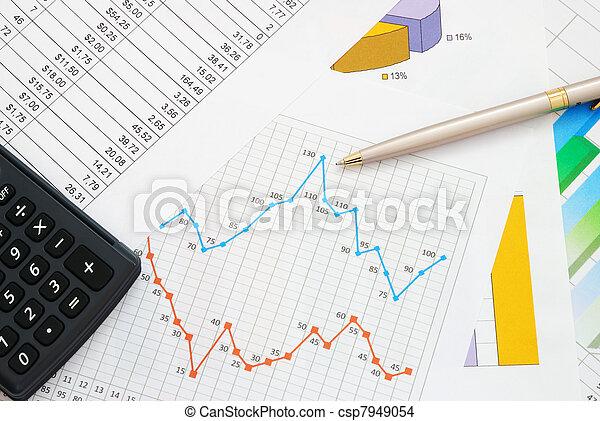 dokumente, finanz - csp7949054