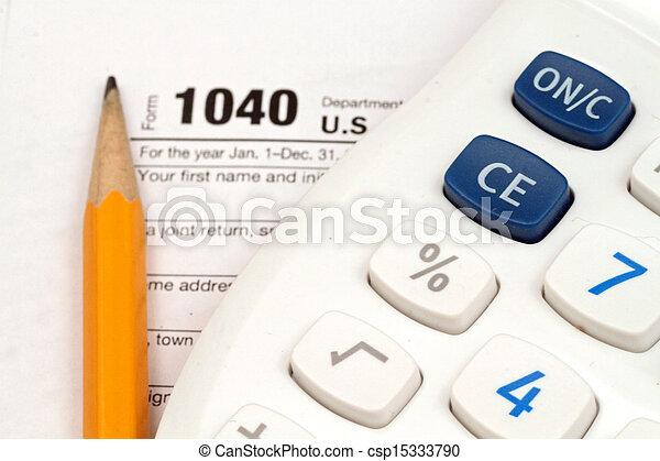 dokumenty, opodatkować, przybory - csp15333790