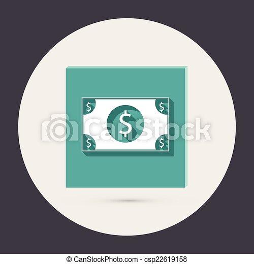 dolar, bill. - csp22619158