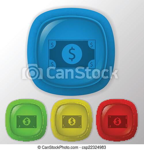 dolar, bill. - csp22324983