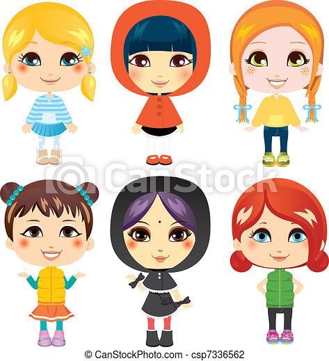 dolce, piccole ragazze - csp7336562