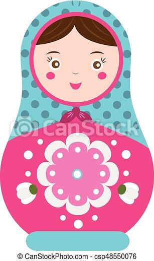 Doll イラスト 伝統的である Matryoshka ベクトル ネスティング