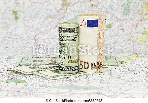Dollar and Euro - csp8659348