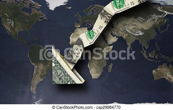 dollar arrow down - csp29984770