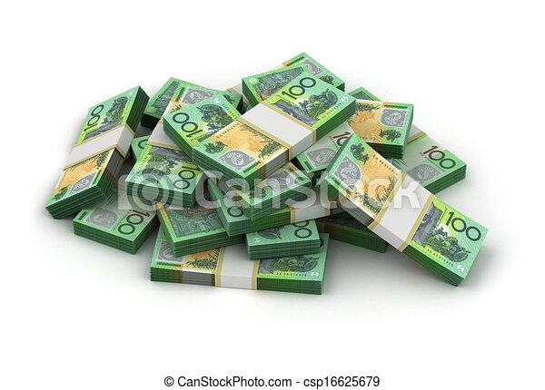dollar australien, pile - csp16625679