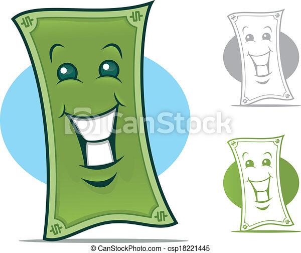 Dollar Bill Character - csp18221445