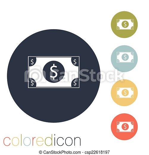 Dollar bill. - csp22618197