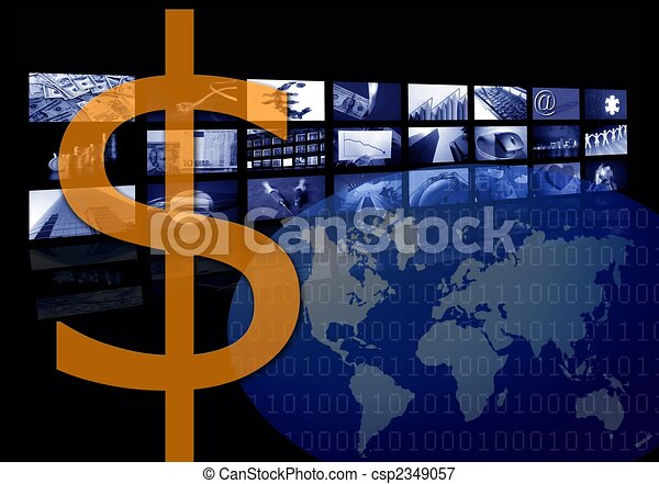 Dollar Business corporate image, multiple screen - csp2349057