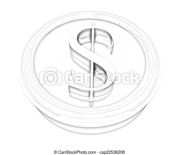 Dollar button - csp22536208