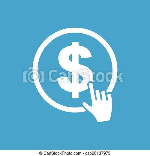 Dollar button icon - csp28137973