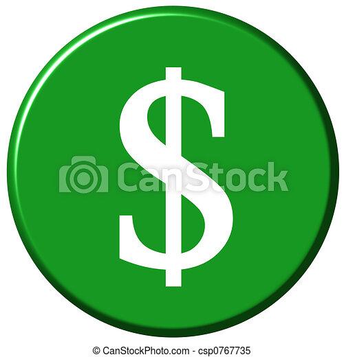 Dollar Button - csp0767735