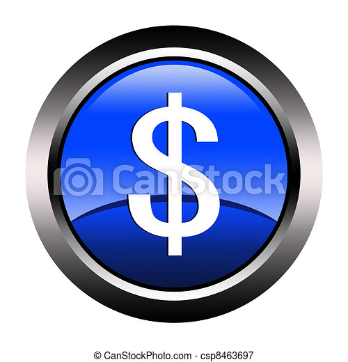 dollar-button - csp8463697