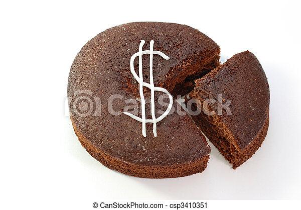 Dollar cake - csp3410351