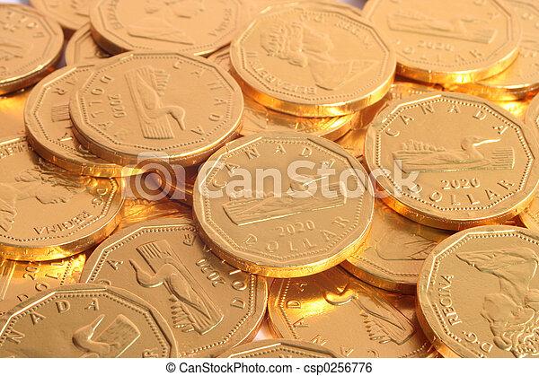 dollar, chocolade - csp0256776
