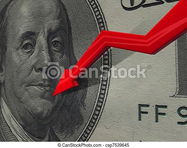 Dollar down - csp7539645