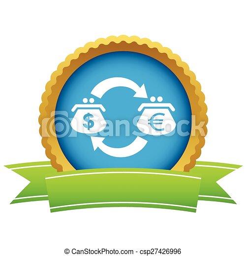 Dollar-euro exchange icon - csp27426996