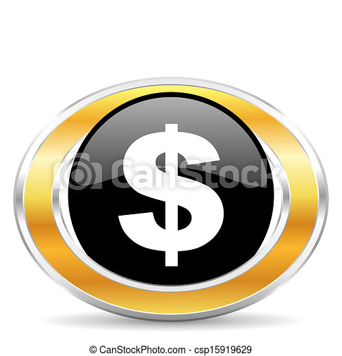 dollar icon, - csp15919629