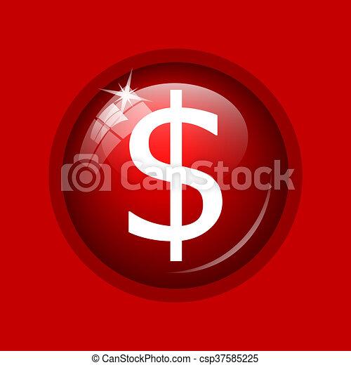 Dollar icon - csp37585225