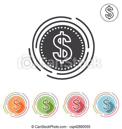 dollar icon - csp42880055