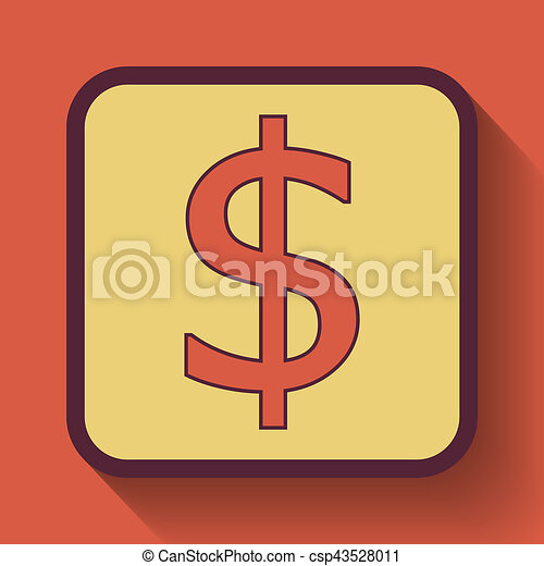 Dollar icon - csp43528011