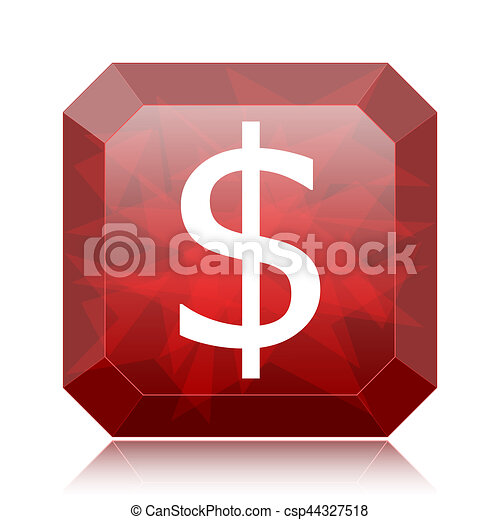 Dollar icon - csp44327518