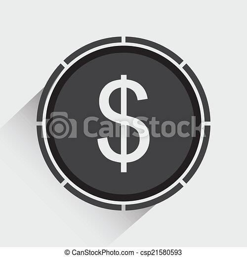 Dollar icon - csp21580593