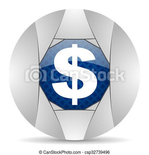dollar icon - csp32739496
