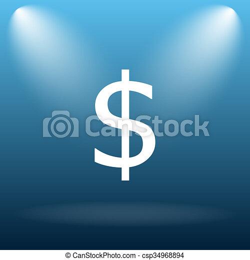Dollar icon - csp34968894