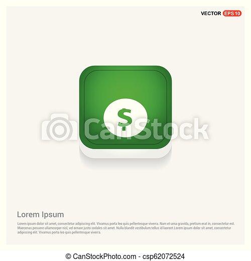 Dollar icon - csp62072524