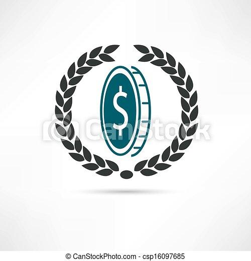 dollar icon - csp16097685