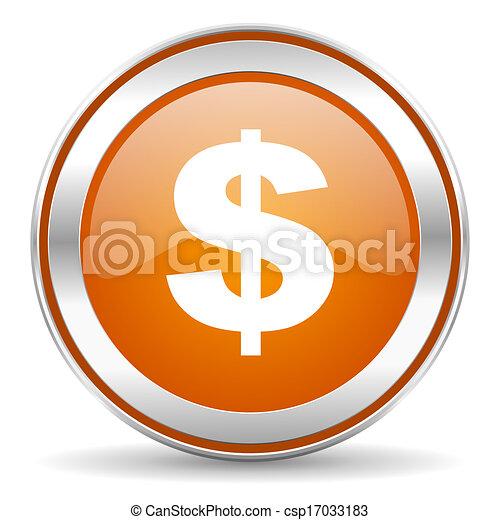 dollar icon - csp17033183