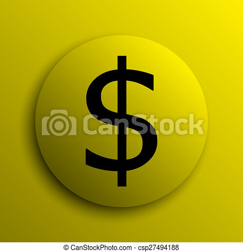 Dollar icon - csp27494188