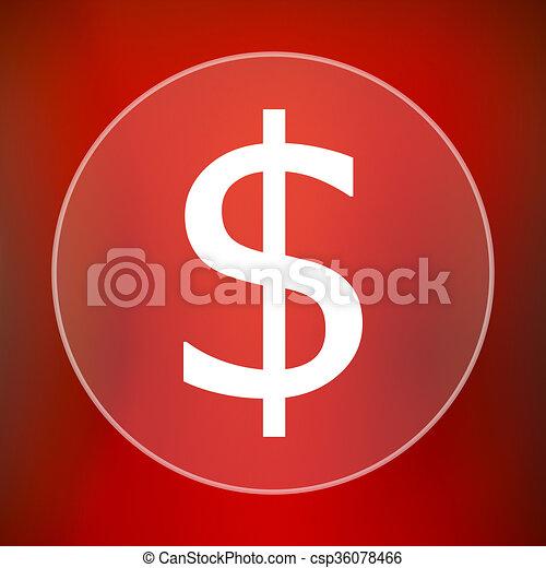 Dollar icon - csp36078466