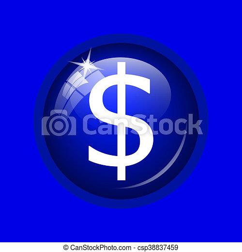Dollar icon - csp38837459