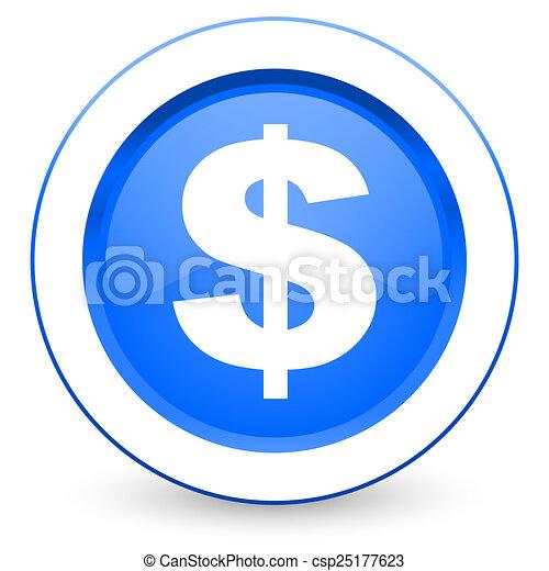 dollar icon us dollar sign - csp25177623