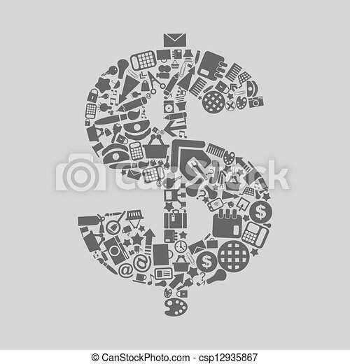 dollar, kantoor - csp12935867