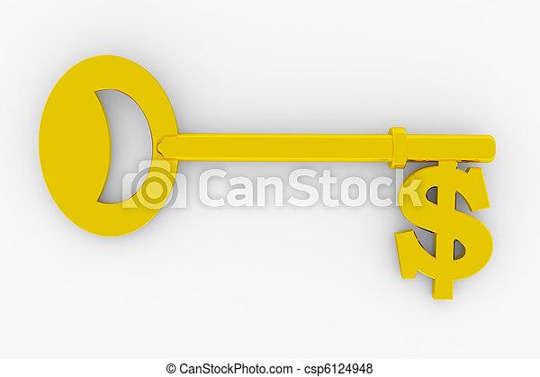 Dollar key - csp6124948
